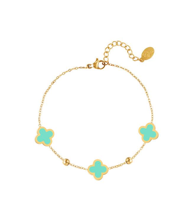 Lucky Clover Bracelet / Turquoise