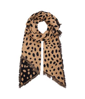 Leopard Dots Scarf / Camel