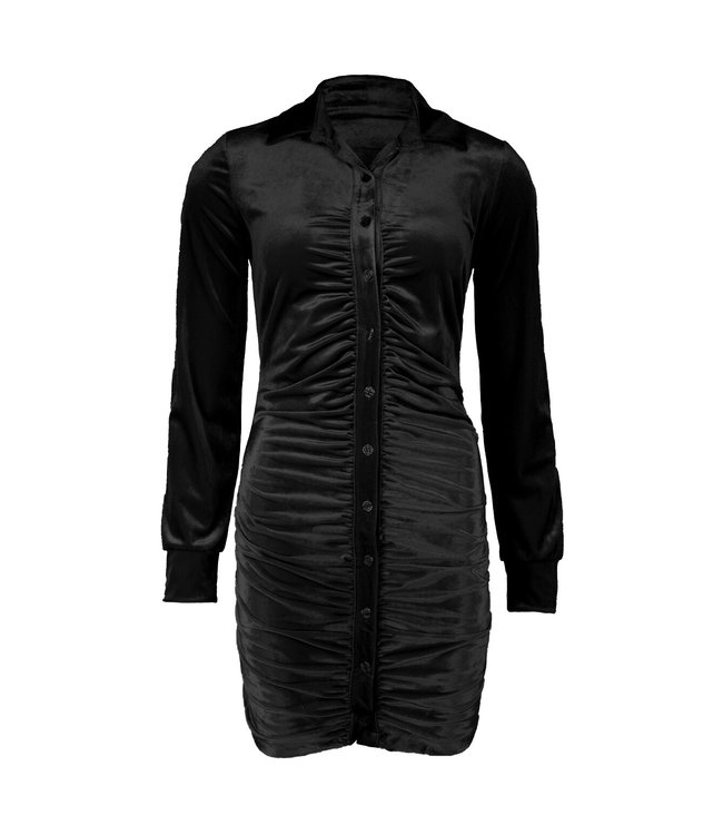 Suede Ruched Dress