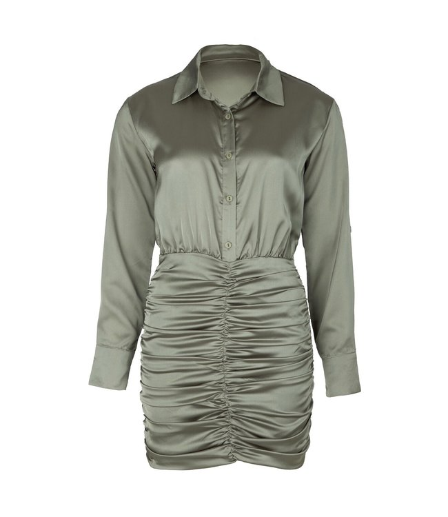 Button Up Silk Dress