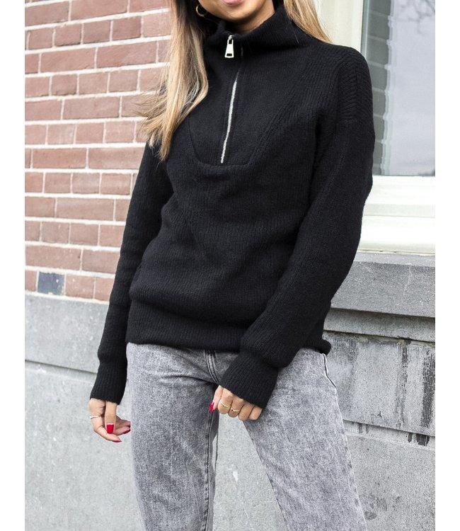 Ribbed Zip Sweater