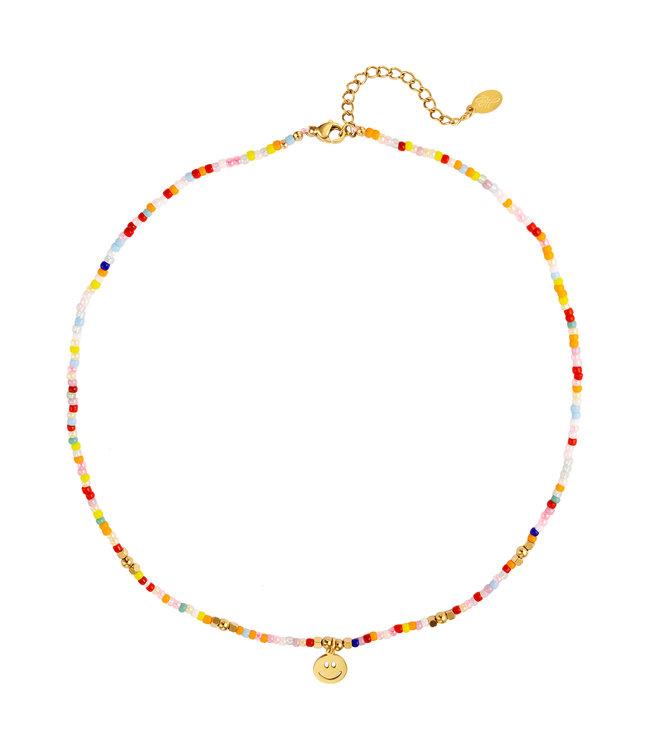 Rainbow Smiley Charm Necklace