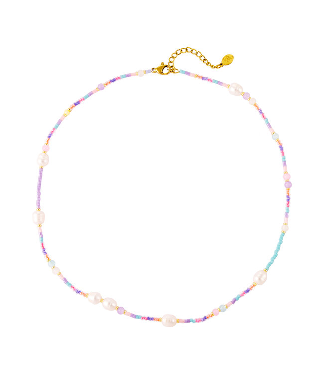 Pastel Pearl Beads Necklace