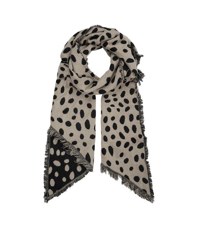 Leopard Dots Scarf / Beige