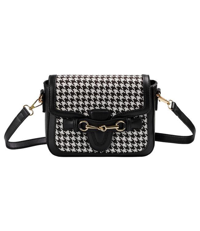 Checkered Details Bag