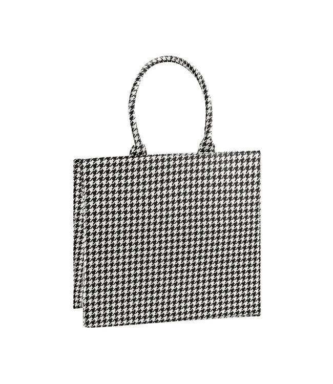 Pied de Poule Shopper Bag