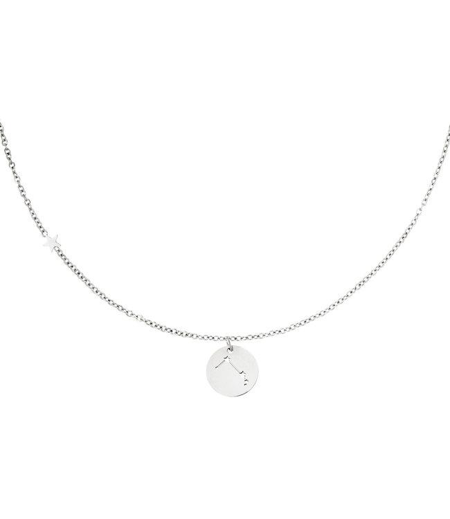 Silver Zodiac Sign Necklace