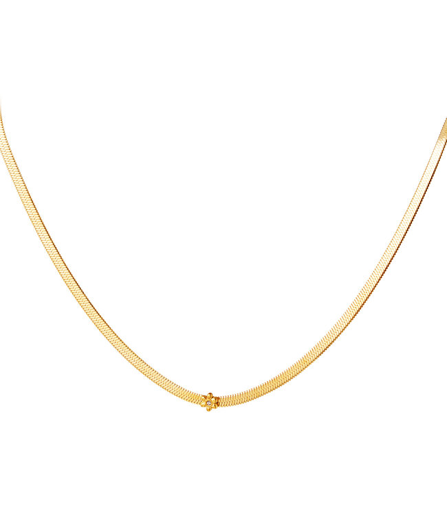 Flower Flat Chain Necklace