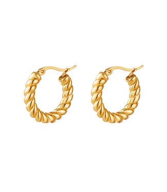 Elegant Turned Hoop Earrings