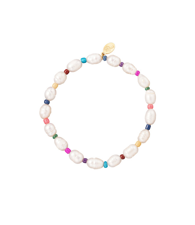 Pearl & Colorful Beads Bracelet