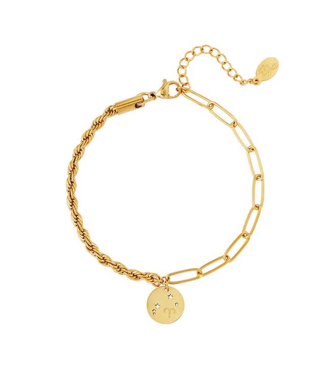 Gold Zodiac Sign Bracelet