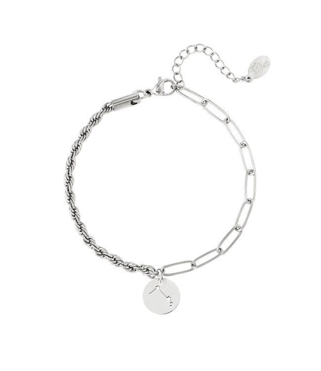 Silver Zodiac Sign Bracelet