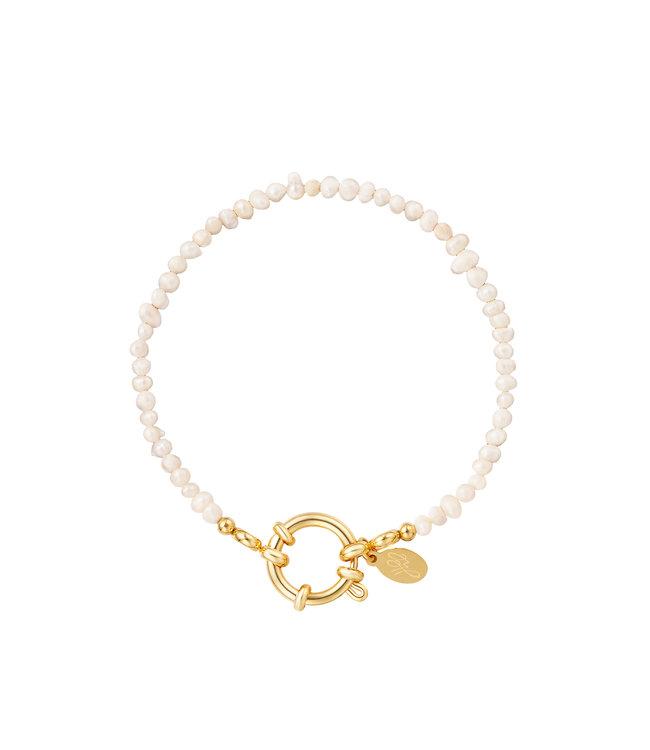 Pearl Ring Chain Bracelet