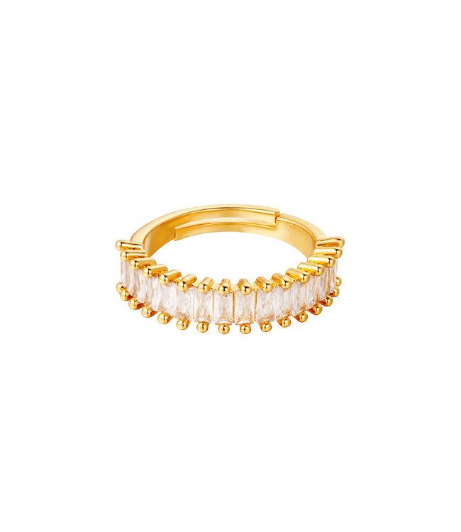 Sparkle Row Ring