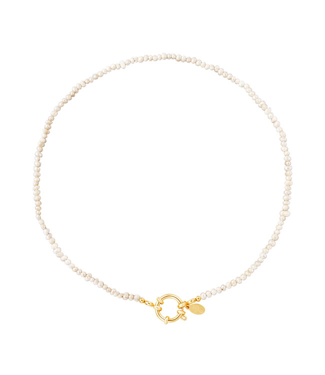 Pearl Ring Chain Necklace
