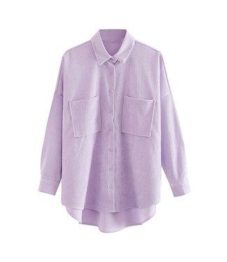 Corduroy Blouse / Lilac