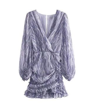 Smock Scales Dress / Blue
