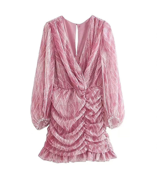 Smock Scales Dress / Pink