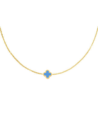 Colored Clover Necklace