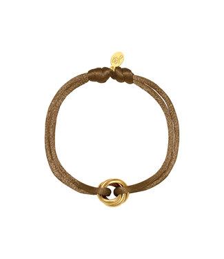 Satin Knot Bracelet / Brown