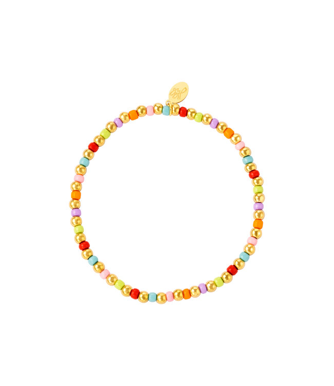 Colorful Simple Beads Bracelet / Rainbow