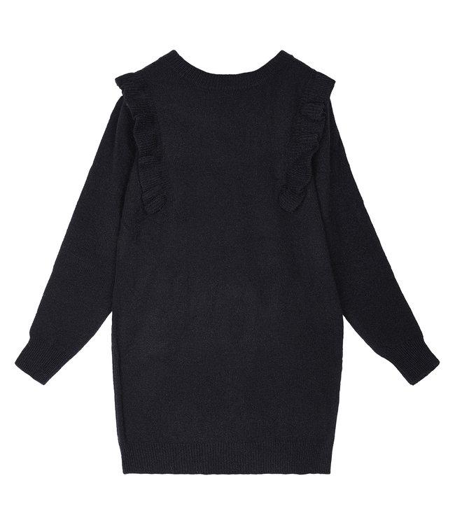 Ruches Dress / Black