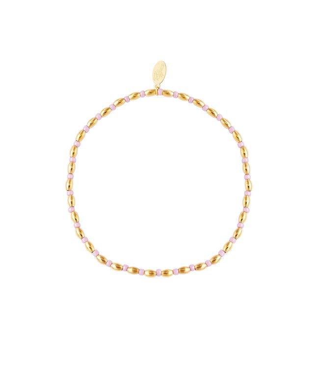 Gold Long Beaded Bracelet