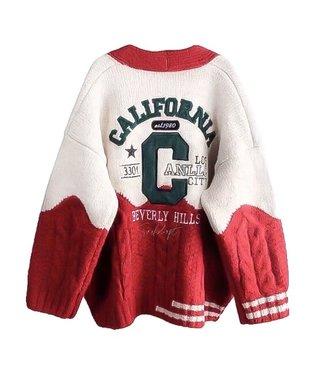 California Cardigan / Red