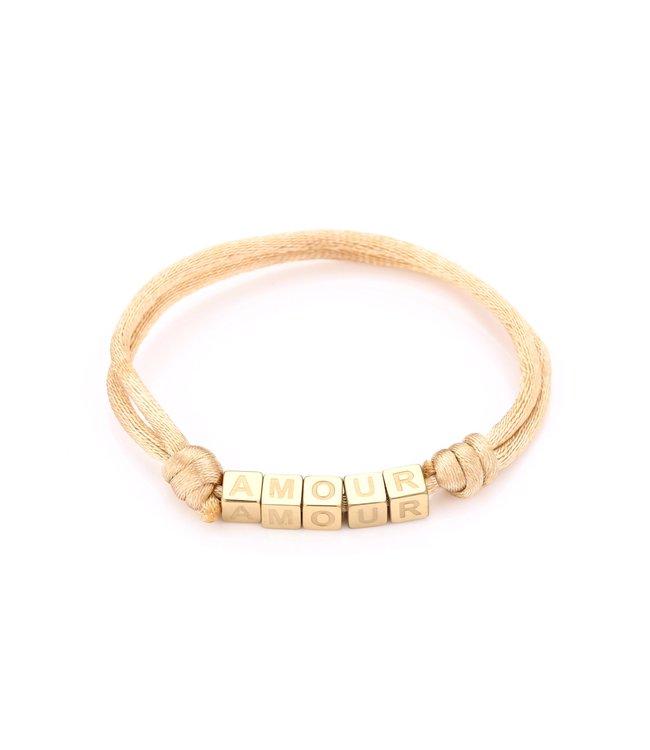 Satin Amour Bracelet / Beige