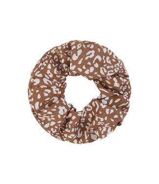 Leopard Pattern Scrunchie / Brown