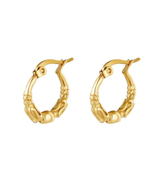 Gold Bali Hoops