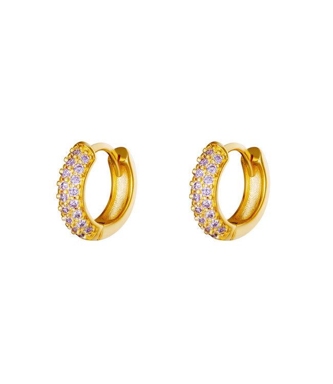 Desire Hoops Earrings / Lilac