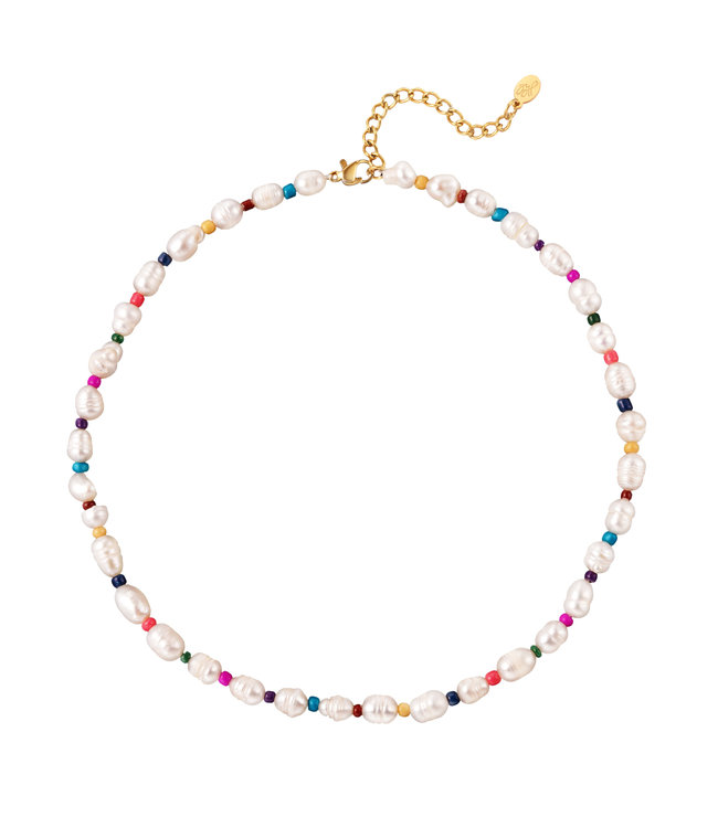 Pearl & Colorful Beads Necklace