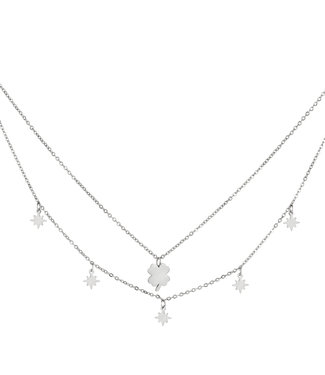 Doubled Clover Necklace
