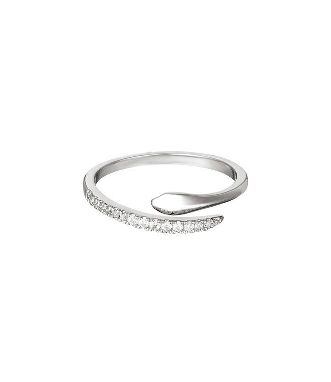 Silver Elegant Snake Ring