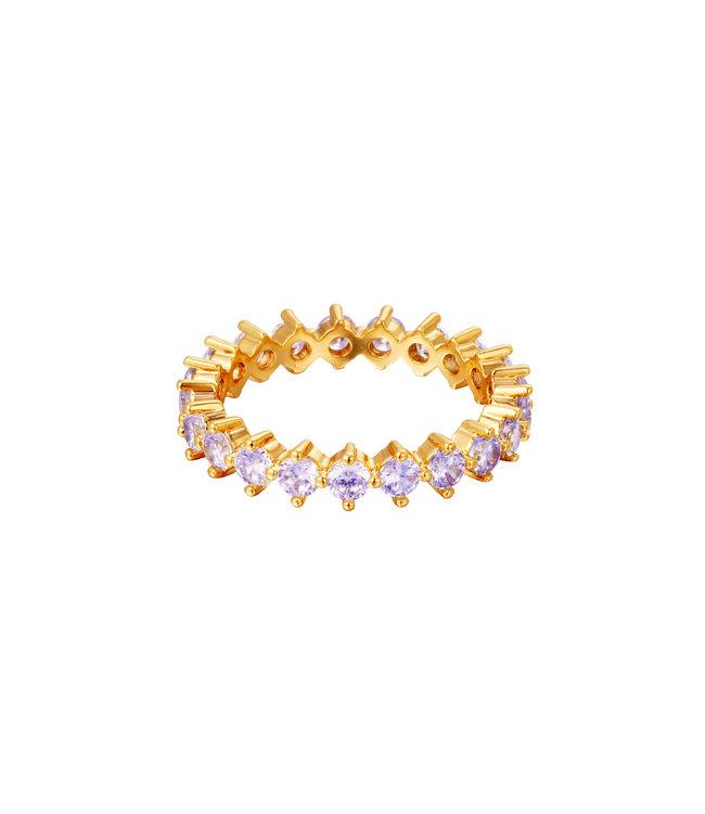 Shiny Crystals Ring / Lilac