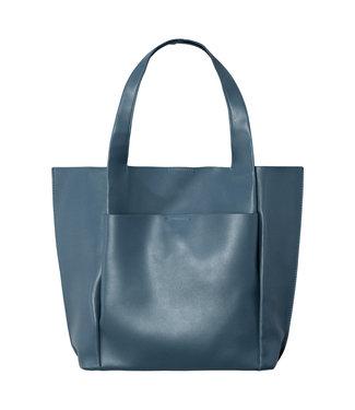 Leather Look Bag / Steel Blue