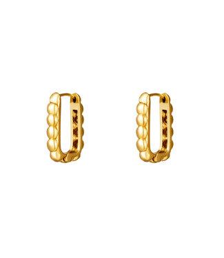Bubble Rectangle Earrings