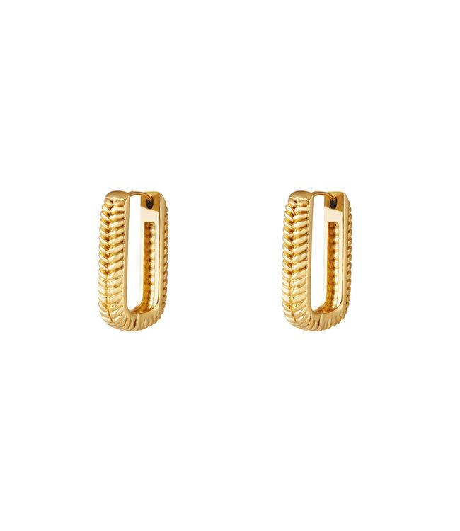 Textured Rectangle Earrings