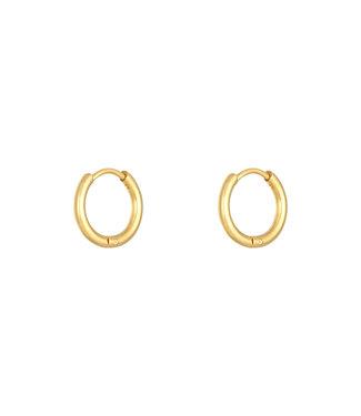 Gold Hoops Earrings / Large