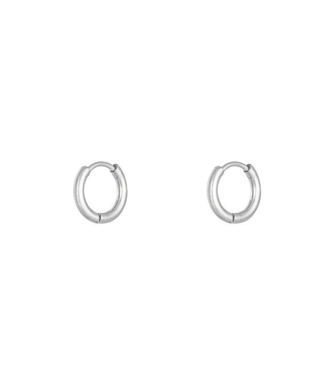 Silver Hoops Earrings / Small