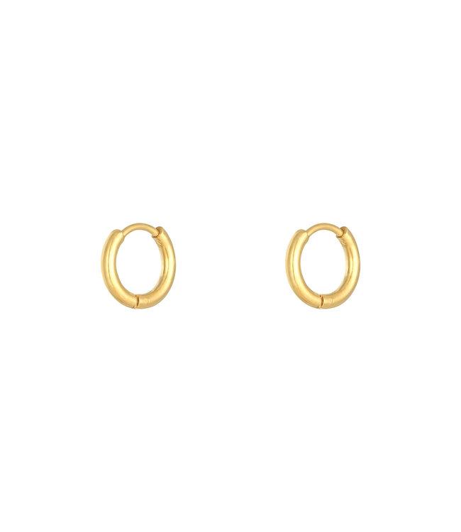 Gold Hoops Earrings / Small