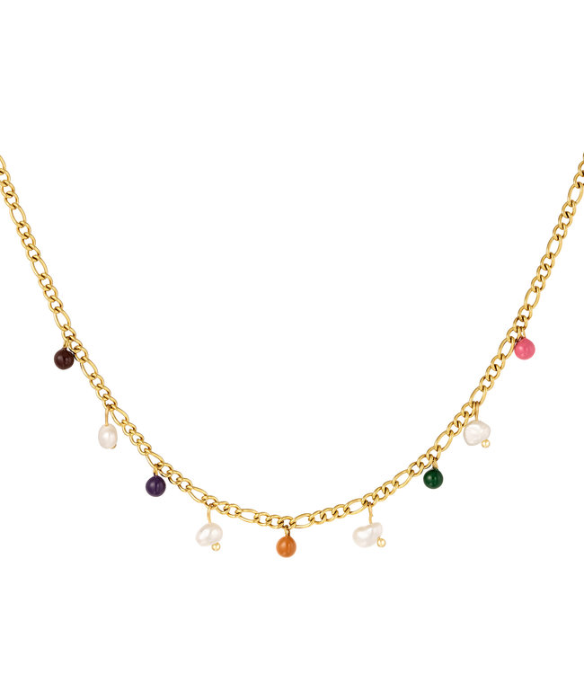 Colored Charms Necklace