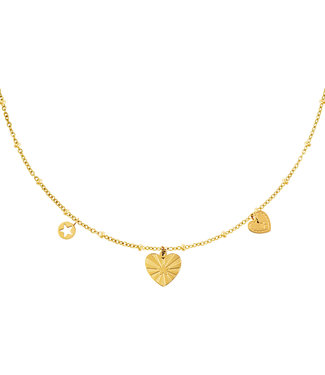 Mixed Hearts Necklace