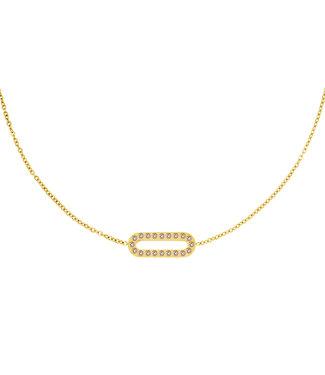 Shiny Rectangle Necklace