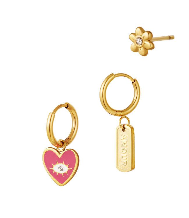 Amour Earrings Set