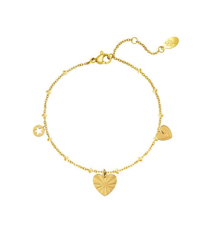 Mixed Hearts Bracelet