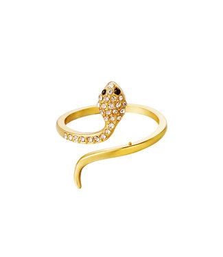 Gold Shiny Snake Ring