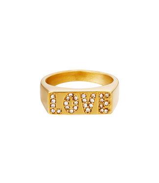 Shiny Love Signet Ring