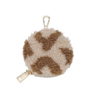 Teddy Leopard Round Wallet